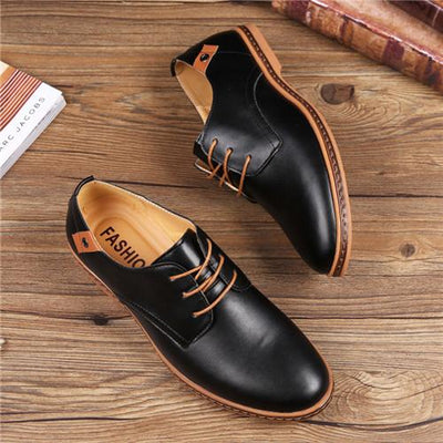 Hand-Made High-Quality Genuine Leather Men's Dress or Casual Pointed Toe Formal Office Wedding Shoes