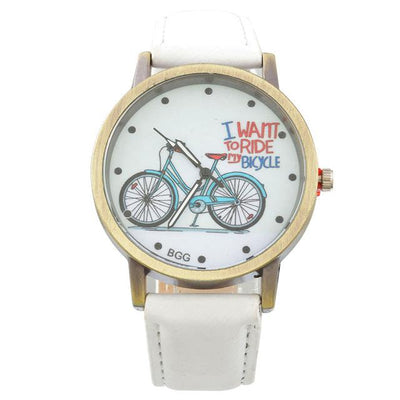 "Unique ""I WANT TO RIDE MY BICYCLE""  Designer Women Wrist Watch"