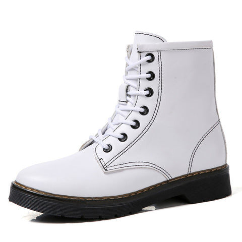 Motorcycle  Boots, Genuine Leather Women Boots, Warm Women Boots
