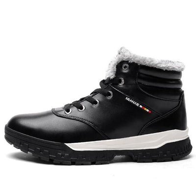 New  Super Warm Men Fashion  Winter Snow Ankle-high Plush Boots