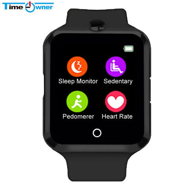 Bluetooth Sleep Monitor, Heart Rate Monitor, Pedometer, Smart Watch Support SIM TF-card Phone Call Camera for Samsung LG Android Phone
