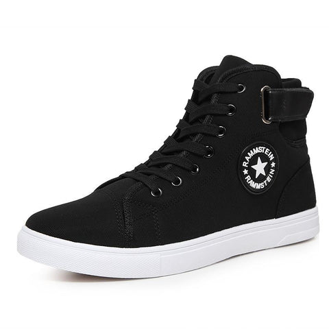High Quality Men Breathable Canvas Lace-up Ankle High Shoes