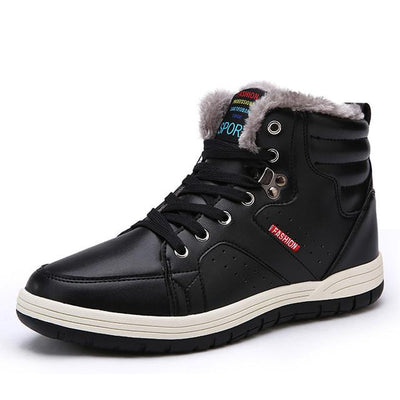 Fashion Warm Ankle High Men Winter Snow Boots