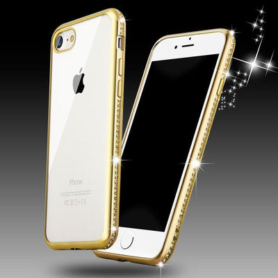 Luxury Bling Diamond Slim Clear  iPhone 6, 6s, 7 and Plus Phone Case
