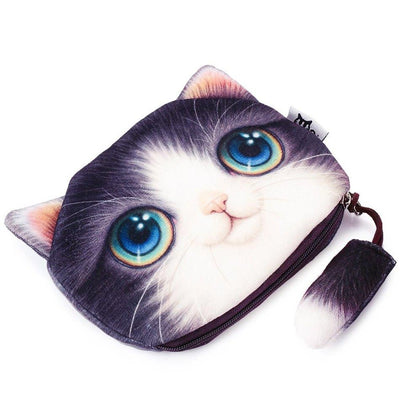 New Cartoon Cat Designer Women Zipper Pouch Case For Make-Up,Coins