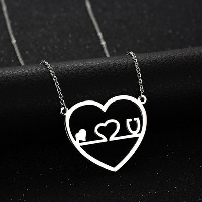 Unique Medical Heart Stethoscope Pendant Gothic Chokers Stainless Steel Chain Necklace For Nurses