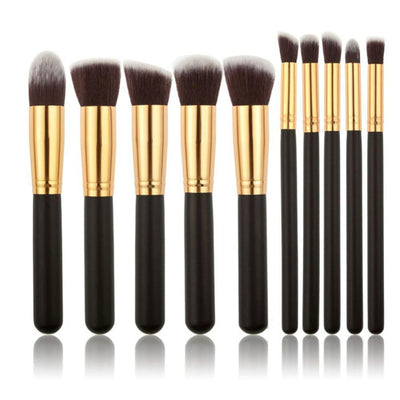 Hot New 10 Pcs Professional Cosmetic Makeup Brushes Set