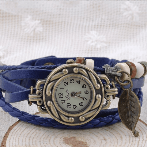 Women Leather Bracelet Watch