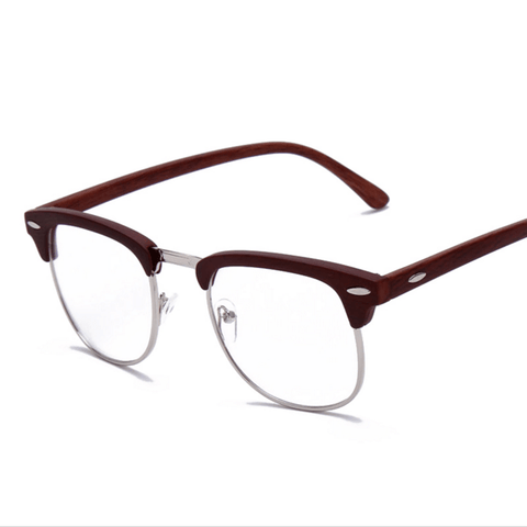 Wooden Frame Optical Myopic Eye Glasses Retro & Vintage