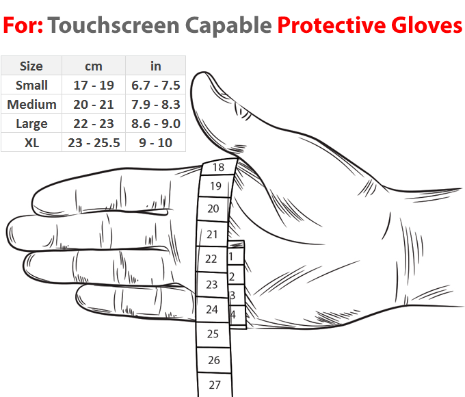 StuffXD.com Touchscreen Capable Protective Gloves