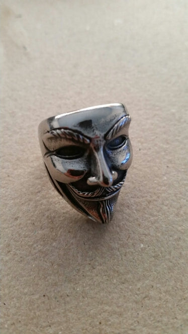StuffXD.com - Guy Fawkes Mask Anonymous Ring