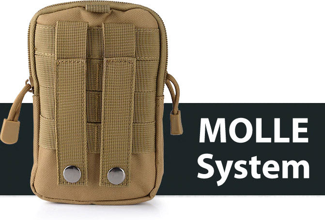 StuffXD.com Multi Purpose Compact Subcompact EDC CCW Waist Bag Holster Khaki MOLLE System