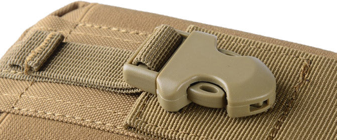 StuffXD.com Multi Purpose Compact Subcompact EDC CCW Waist Bag Holster Khaki Strong Hasp