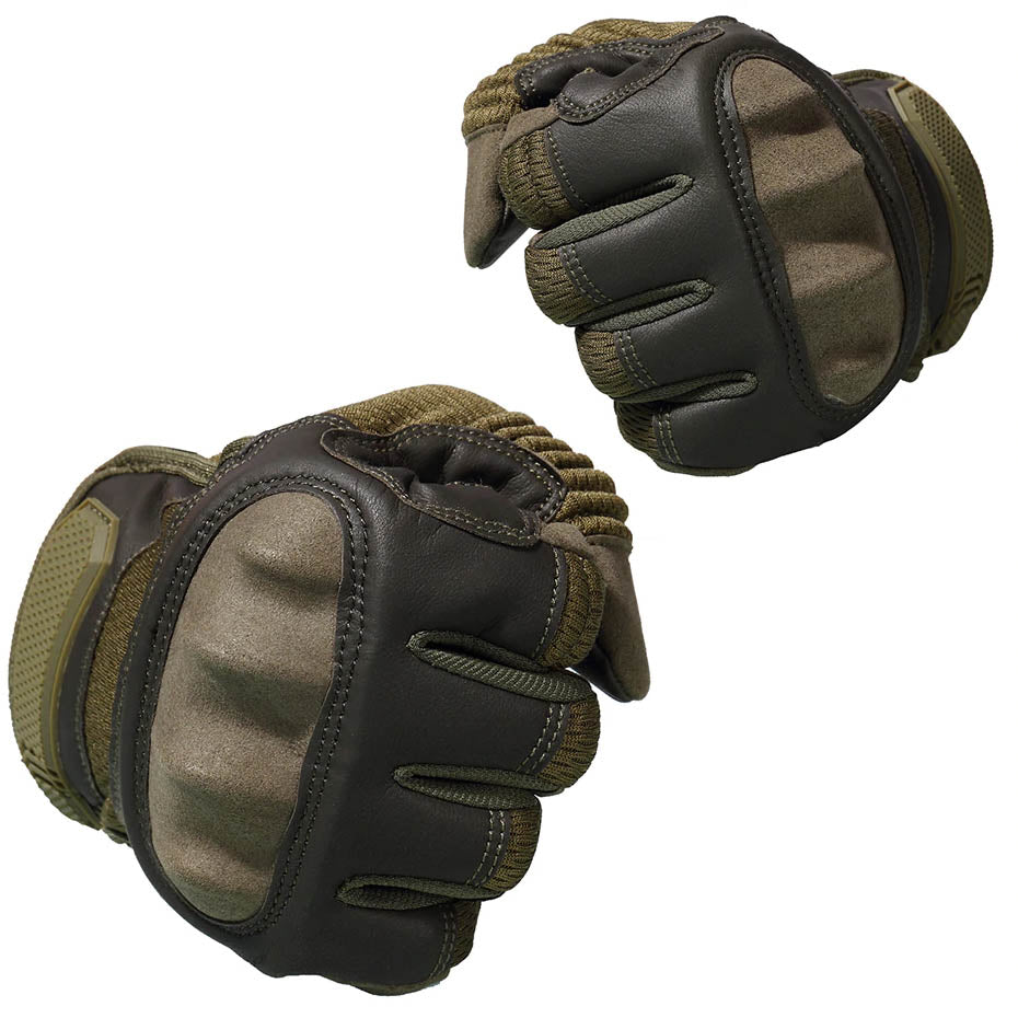 StuffXD.com Touchscreen Capable Protective Gloves Green Fist