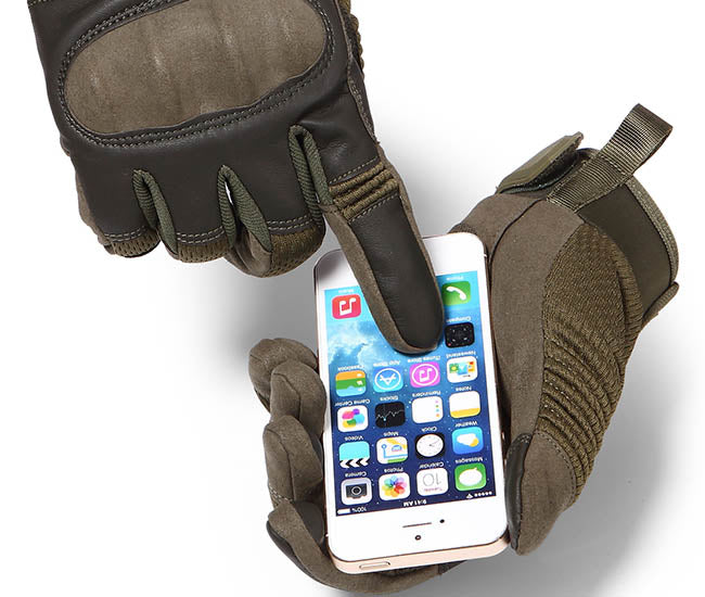 StuffXD.com Touchscreen Capable Protective Gloves Green Phone Tap
