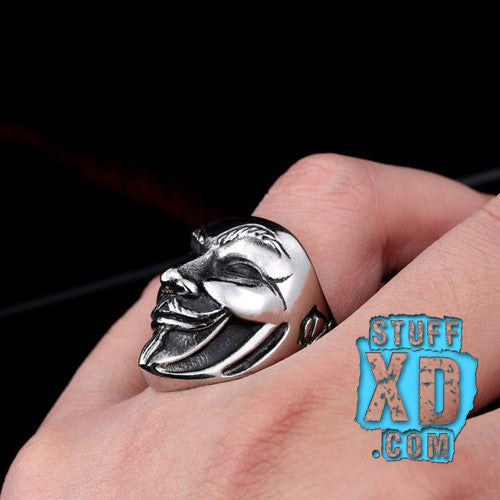Guy Fawkes Mask Ring