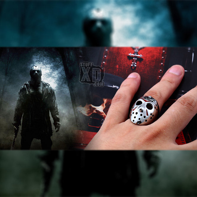 Jason Hockey Mask Ring