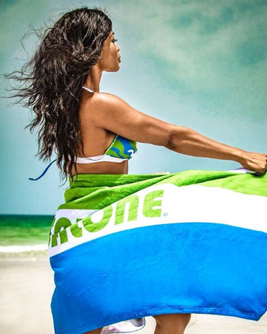 GWB (Green-White-Blue) Beach Towel