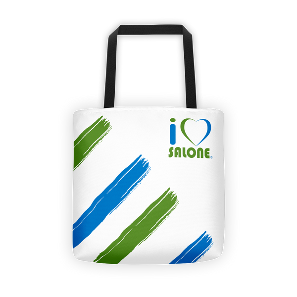 GWB (Green, White & Blue) CONGO CROSS Tote Bag