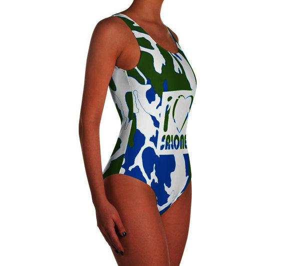 GWB Camo One-Piece Swimsuit