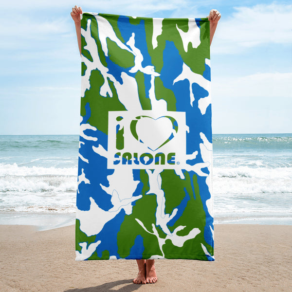 GWB (Green, White & Blue) CAMO Beach Towel