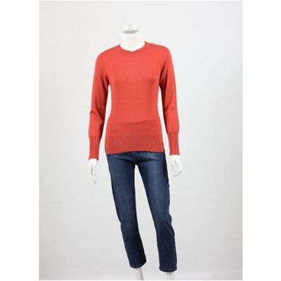 Whispers - Round Neck Jumper - Rust