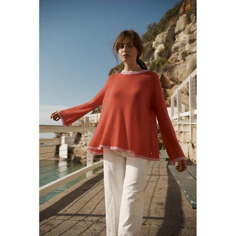 Chantilly Cashmere Sweater in Blush