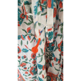 White with Sea green and Orange Kaftan