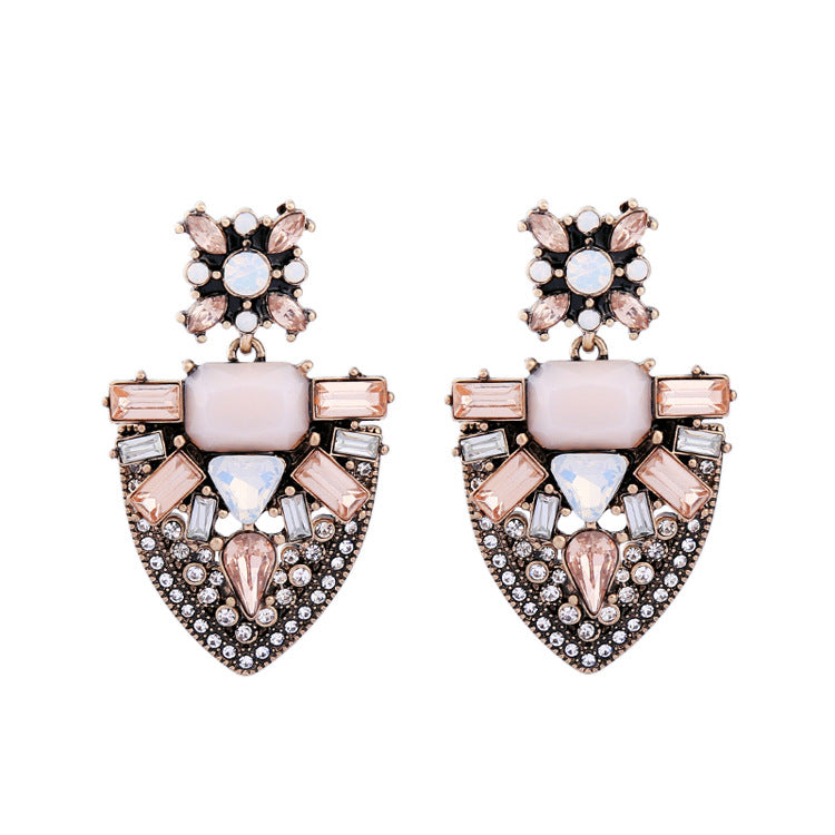 Vintage Inspired Champagne/Pink Earrings