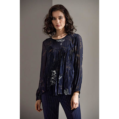 Lania Monarch Sheer Top