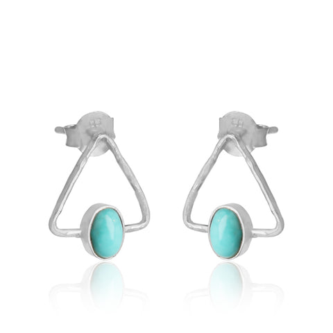 Arizona Turquoise Triangle Studs