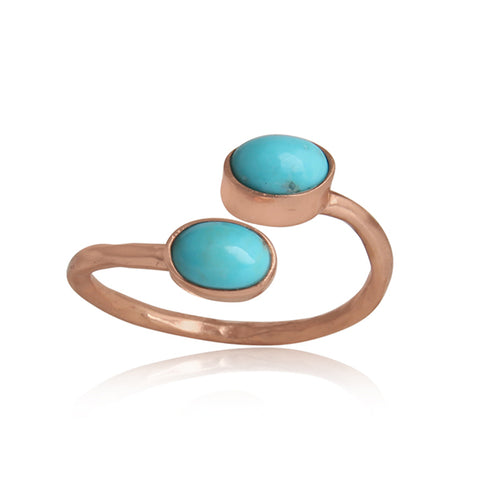 Dual Bypass Turquoise Ring