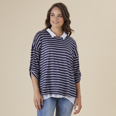 Threadz 2 in 1 Stripe Knit