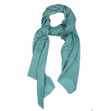 Teal Cashmere Wool Scarf  - Melange Chic - 1