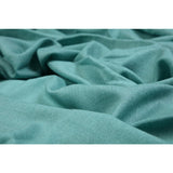 Teal Cashmere Wool Scarf  - Melange Chic - 2