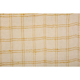Cream and Gold Checkered Eri Silk Scarf  - Melange Chic - 3