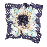 Polka Dot Flower Silk Lightweight Scarf  - Melange Chic - 3