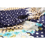 Polka Dot Flower Silk Lightweight Scarf  - Melange Chic - 4