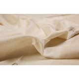 Cream and Gold Motif Eri Silk Scarf  - Melange Chic - 3