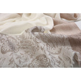 Traditional Cream Jacaqard Cashmere Scarf  - Melange Chic - 2