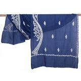 Amreen Collection - Persian Blue Kashmir Embroidered Shawl  - Melange Chic - 1