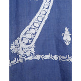 Amreen Collection - Persian Blue Kashmir Embroidered Shawl  - Melange Chic - 2
