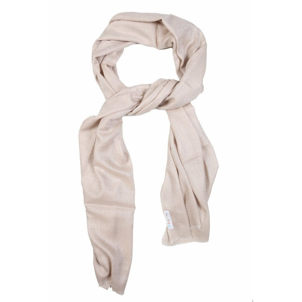 Offwhite Cashmere Wool Scarf  - Melange Chic