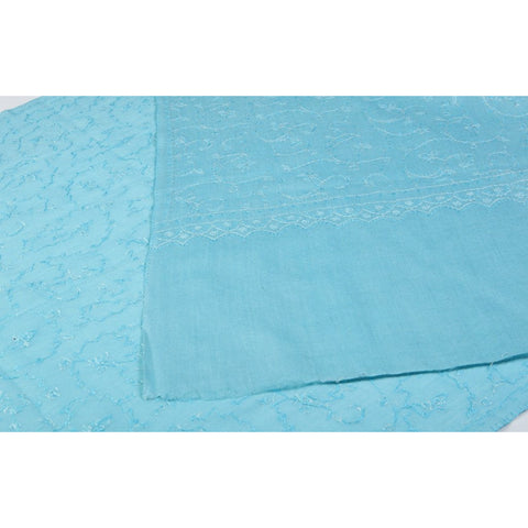 Anila Collection - Maya Blue Kashmir Embroidered Shawl  - Melange Chic - 1