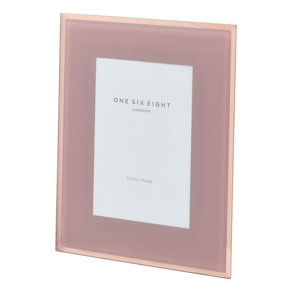 10 x 8 Dusty Rose Glass Photo Frame