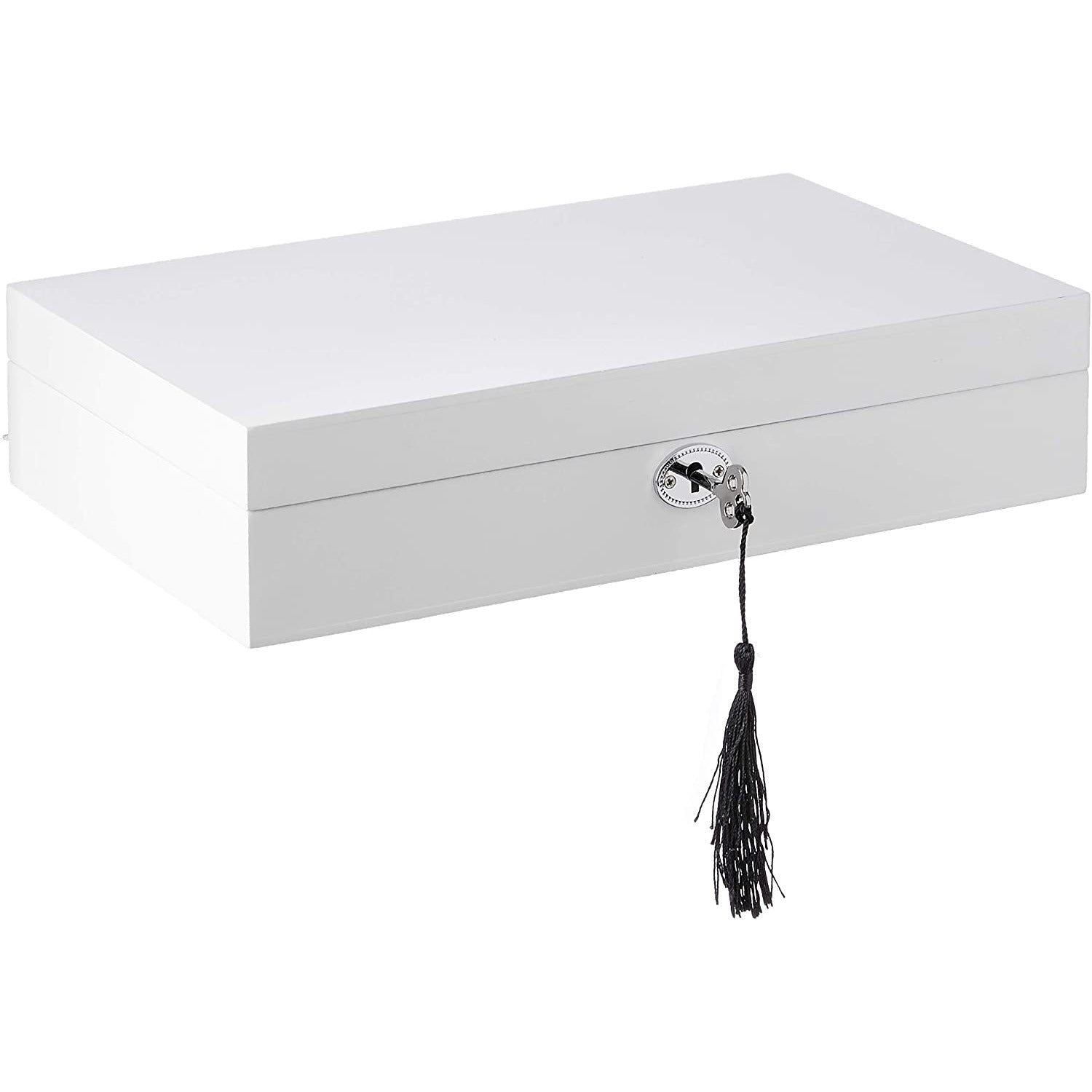 White Lacquer Jewellery Box Single
