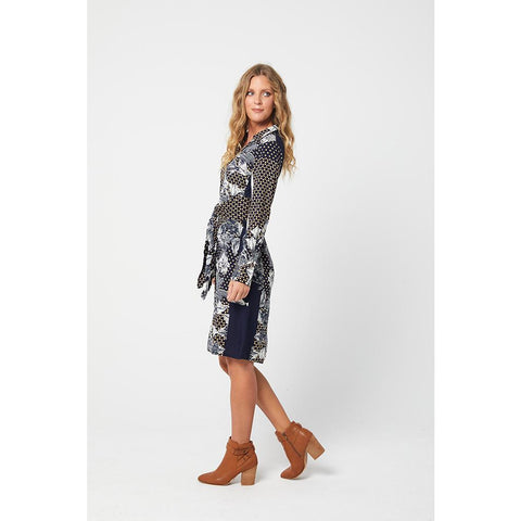 Kaja ABIGAIL Dress -Navy/Floral