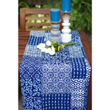 Indigo Patchwork Kantha Quilt / Throw / Table Cloth  - Melange Chic - 1