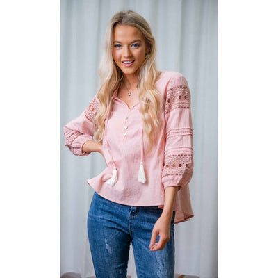 Iris Tassel Top Blush