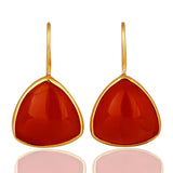Red Onxy Gemstone 925 Sterling Silver Drop Earring